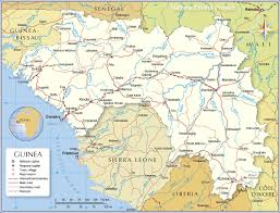 Gambia Africa Map by Political Map Of Guinea 1200 Pixel Nations Online Project