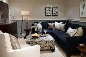 Navy Couch Decorating Ideas Nature For Basement Colors Inspiration Basement Pinterest