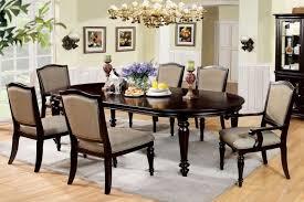 Walnut Dining Room Set Furniture Of America Cm3970t Cm3970ac Cm3970sc Harrington 7 Pieces
