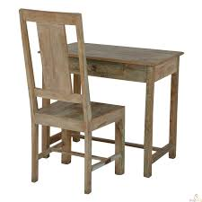 study table and chair vins indian reclaimed wood study table with chair study table and