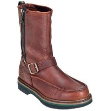 s deere boots sale deere mens brown side zip mock toe work boot jd4153