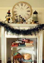 Halloween Garland Sensational Halloween Mantel Ideas Integrating Endearing White
