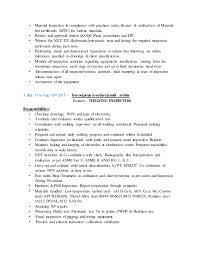 Qa Qc Inspector Resume Sample Qa Qc Inspector Ananda Ram Prasath V Resume