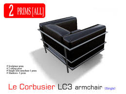 Lc3 Armchair Second Life Marketplace Le Corbusier Lc3 Armchair Single Seat