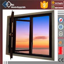 standard size aluminium profile for glass sliding grill design
