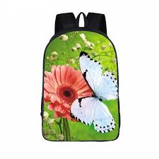 beautiful butterfly flower backpack designs freedom look