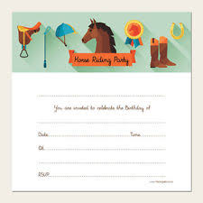 horse birthday invitations celebrations u0026 occasions ebay