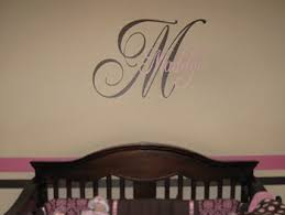 Monogram Wall Decals For Nursery Monogram Wall Decals Trading Phrases
