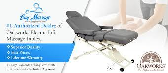 oakworks electric massage table oakworks clinician electric hydraulic flat top massage table