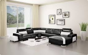 Room Interior Design Ideas Bedroom Sweet Spare Room With Black Leather Sofa Design Idea