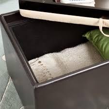 garrett coffee table storage ottoman with tray u0026 side ottomans