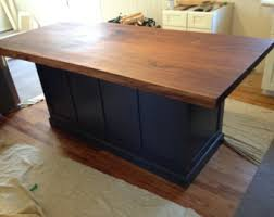 walnut kitchen island kitchen island etsy