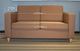Sofa For Lobby Frame Fabric Material Hotel Lobby Sofa Bed With Mattress For