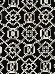 Black Drapery Fabric Black White Upholstery Fabric By The Yard Printed Cotton Drapery