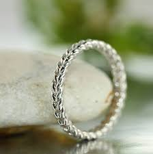 braided wedding bands rope 14k white gold braided wedding band unique twisted