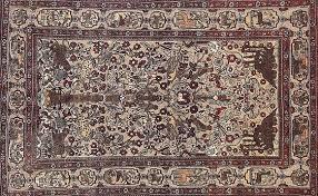 persiani antichi zinouzi tappeti persiani kashan antico seta suf base argento