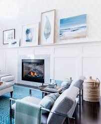 a light and bright living room splashed with oceanic hues style