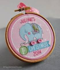 personalized baby s ornament embroidered