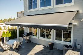 Deck Canopy Awning Retractable Patio Awnings Rainier Shade