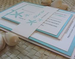 Beach Theme Wedding Invitations Starfish Invitations Etsy