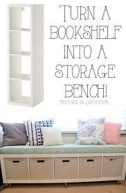 ikea hack bench bookshelf 25 best ikea hacks storage bench seating bookshelf storage and