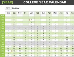 any year calendar office templates