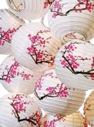 cherry blossom decor cherry blossom paper lantern and pink and white tissue pom poms