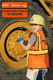 Construction Worker Costume Diy Dress Up Construction Worker Making Of A Mom