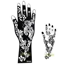 tattoo hand design aliexpress com buy 1pc exquisite mehndi flower lace design