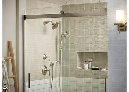 Kohler Frameless Sliding Shower Door Kohler Levity 48 In X 74 Semi Frameless Sliding Shower Door Within