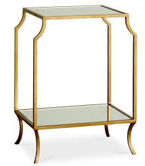 vintage gold side table mila mirrored glass side table w shelf antique gold see more