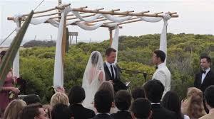Bamboo Chuppah Neil Patrick Harris Officiates Wedding At Villa Santa Cruz In