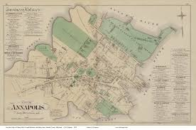 Maryland State Parks Map by Old Maps Of Annapolis
