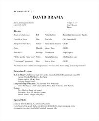 free acting resume template free acting resume template theater and collaborativenation
