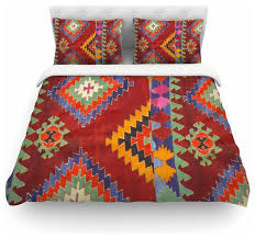 Red Duvet Set S Seema Z
