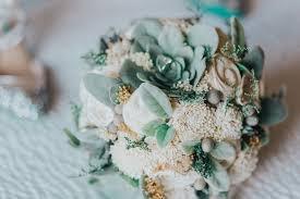 Fake Flowers For Wedding Bridal Bouquet Artificial Faux Succulents Sola Wood Flowers