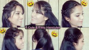 4 easy hairstyle with puff quick hairstyles indian hairstyles