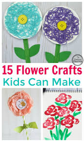 15 fun flower crafts for kids planning playtime