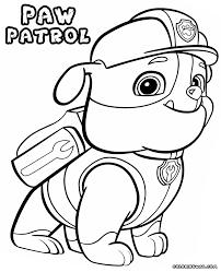 printable paw patrol cartoon coloring books printable