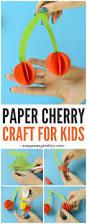 paper cherry craft fruit craft idea easy peasy and fun