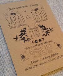 rustic vintage wedding invitations personalised wedding invitations rustic vintage kraft brown floral