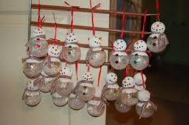 craft snowman ornaments as gifts