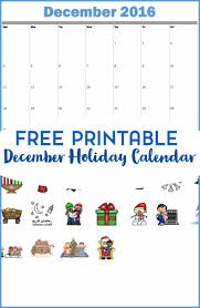free printable and activity calendar for december 2016