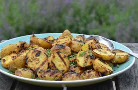 grilled baby potatoes with dijon mustard u0026 herbs once upon a chef