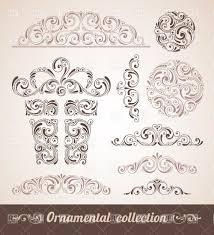 ornamental design elements vector clipart image 28656 rfclipart