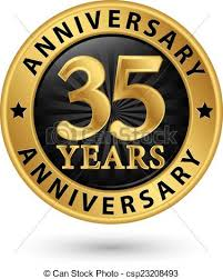35 year anniversary 35 years anniversary gold label vector illustration eps vectors