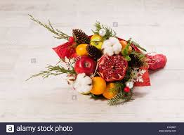edible bouquet up view of winter edible bouquet stock photo royalty free