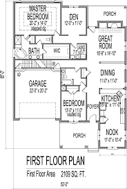 porch floor plan brick house floor plans drawings with garage 2 bedroom 1 story
