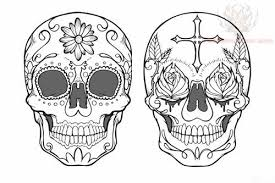flowers and mexican sugar skull tattoo design photo 2 2017 real
