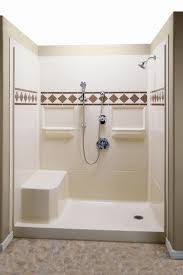 bathroom stylish shower stalls at lowes with seats ideas make